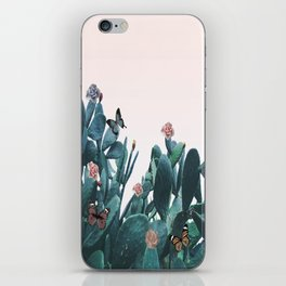 Cactus & Flowers - Follow your butterflies iPhone Skin