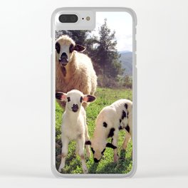 Ewe and Twin Spring Lambs Clear iPhone Case