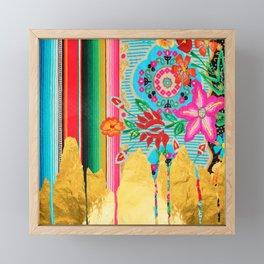 Gold Dipped Boho Serape Dream Framed Mini Art Print