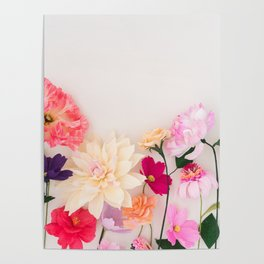 Crepe paper flowers Poster