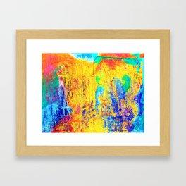 Imaginäre Landschaft - Ölgemälde auf Leinwand Framed Art Print