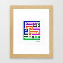 In the Name of God,  the Most Compassionate and the Most Merciful Framed Art Print