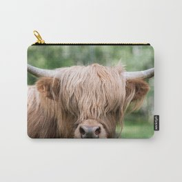 Portrait of a cute Scottish Highland Cattle Carry-All Pouch