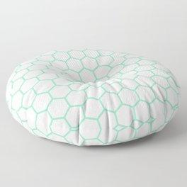 Honeycomb (Mint & White Pattern) Floor Pillow
