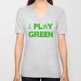 Show Your Game Color - Green Unisex V-Neck