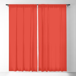 Cherry Tomato   Pantone Fashion Color Spring : Summer 2018   New York and London Solid Color   Blackout Curtain