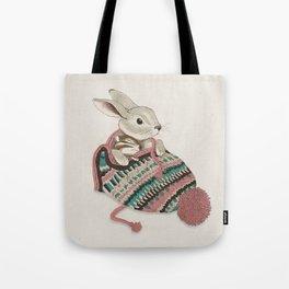Cozy Bunny and Chipmunk Tote Bag
