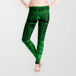 Black and green abstract Leggings