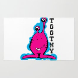 Toothy Alien by Jeronimo Rubio 2016 Rug