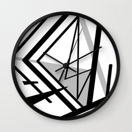 The Fragments of Black And White Wall Clock