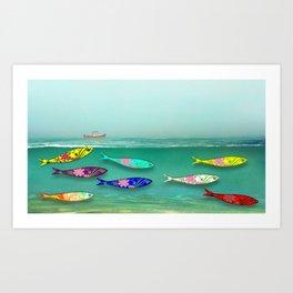 SARDINES IN WATER 6 Art Print