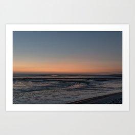 Sunset at the Waddensea Art Print