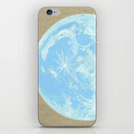 Moon Portrait 4, Blue Moon iPhone Skin