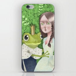 Fairytale Frog king and the princess iPhone Skin