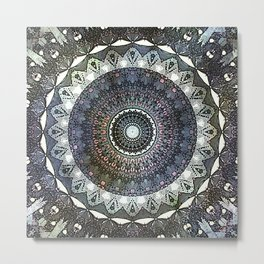 Distressed Mandala Metal Print