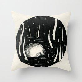 Sinking Ground.  Throw Pillow