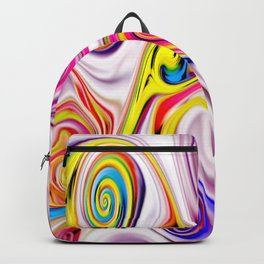 Waves and swirls, abstract, patterns piece no 11 Backpack