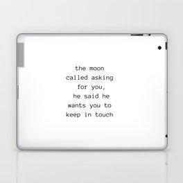 Moon Talks Laptop & iPad Skin
