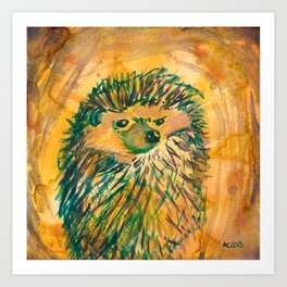 Angry Hedgehog Kunstdrucke