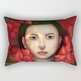 Burning Flower  Rectangular Pillow