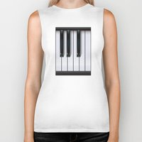 piano Biker Tanks featuring Piano by rob art | illustration