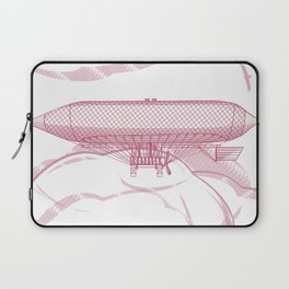 Airship 2, vector engraving Laptop Sleeve