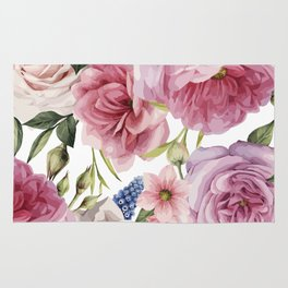 WATERCOLOR ROSES Rug