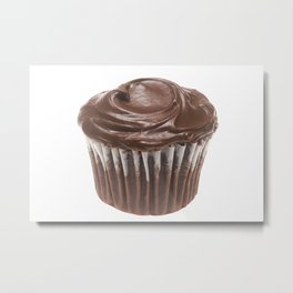 Chocolate Cupcake Metal Print