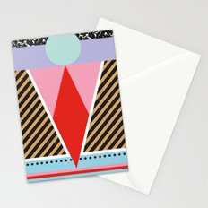 Modern Colorful Geometric Postmodern Memphis Milano Tribal Stationery Cards