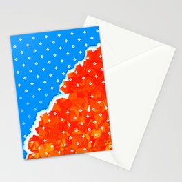 hysterical blue Stationery Cards