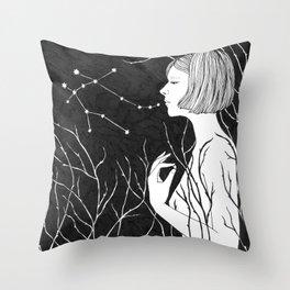 Under Stars (Aurora Aksnes) Throw Pillow