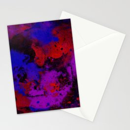 Colour Warfare - Abstract, red, blue, black and purple painting Stationery Cards