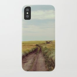 Rustic photography Country road photo Landscape print Nature poster Summer iPhone Case