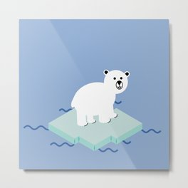 Snow Buddy Metal Print