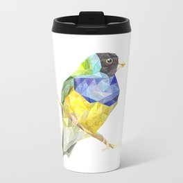 tropical bird paint watercolor Metal Travel Mug
