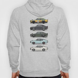 Stack of Mazda Savanna GT RX-3 Coupes Hoody