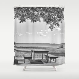 Anyone for a peaceful picnic Shower Curtain