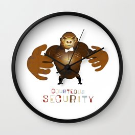 Courteous Security Wall Clock