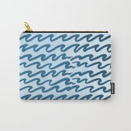 Abstract Metallic Sea Waves Saltwater Taffy Teal on Blue Raspberry Carry-All Pouch
