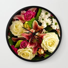 Bouquet Of Flowers Wall Clock