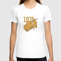 1975 T-shirts featuring Vespa Ts 1975 by usbe