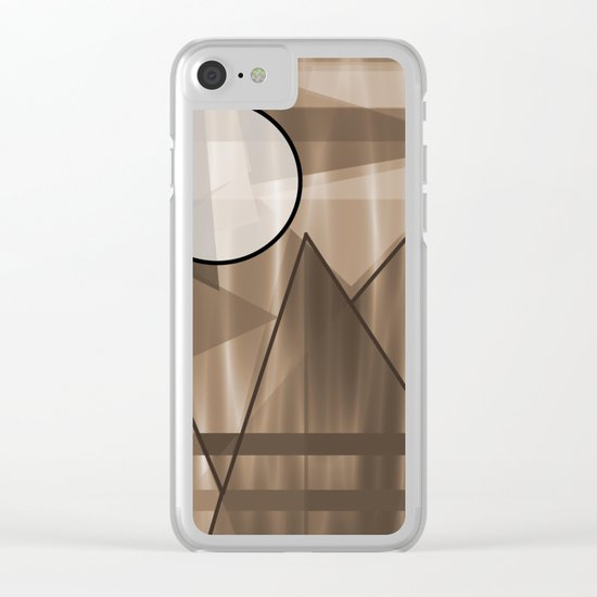 Sepia Landscape Clear iPhone Case