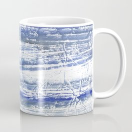 Gray Blue Marble blurred watercolor texture Coffee Mug