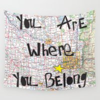 minneapolis Wall Tapestries featuring Where You Belong-Minneapolis by The Little Illustrator