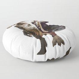 George Washington Riding a Tyrannosaurus Rex Floor Pillow