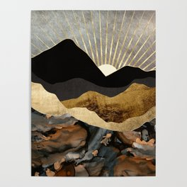 Copper and Gold Mountains Poster