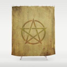 Pentagram Shower Curtain