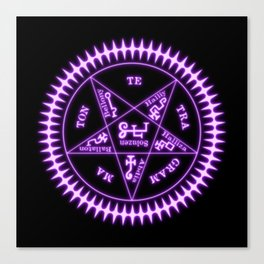 Sebastian Michaelis Sigil Light (black bg) Canvas Print