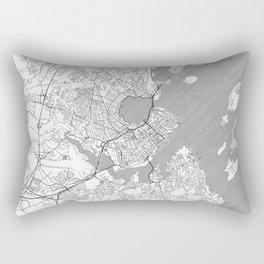 Portland Maine Map Line Rectangular Pillow