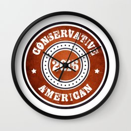 Conservative American Wall Clock